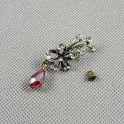 2 Pieces Earrings Ear Earring Supplies Hooks Stud Cuff Clip Punk XF206B Flower Drop