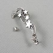 1 Pieces Earrings Ear Earring Supplies Hooks Stud Cuff Clip Punk XF196A Left Side Meteor