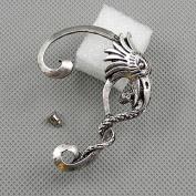 1 Pieces Earrings Ear Earring Supplies Hooks Stud Cuff Clip Punk XF095A Left Side Eagle