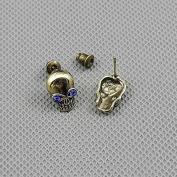 2 Pairs Earrings Ear Earring Supplies Hooks Stud Cuff Clip Punk XF010C Pair Skull