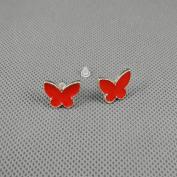 2 Pairs Earrings Ear Earring Supplies Hooks Stud Cuff Clip Punk XJ0571 Butterfly