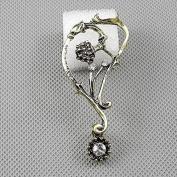 1 Pieces Earrings Ear Earring Supplies Hooks Stud Cuff Clip Punk XF098B Right Side Flower