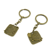 2 PCS Keyrings Keychains Key Ring Chains Tags Jewellery Findings Clasps Buckles Supplies C3TV8 Turtle Sign