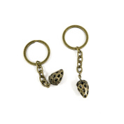 2 PCS Keyrings Keychains Key Ring Chains Tags Jewellery Findings Clasps Buckles Supplies Q8RB6 Hollow Strawberry