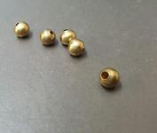 6 MM Metal Round Brass Bead Jewellery Making