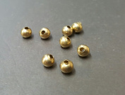 5 MM Metal Round Brass Bead Jewellery Making