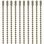 Ball Chain #3 Antique Brown Finish Over Steel 80cm Necklaces 10 Count