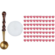 ACE Beautiful Heart Shape Sealing Wax Beads with Melting Spoon Candle