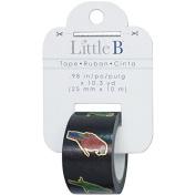 Little B 100867 Decorative Foil Paper Tape, Gold Foil Outline Parrots
