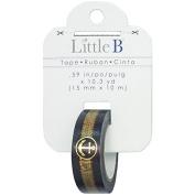 Little B 100871 Decorative Foil Paper Tape, Gold Foil Anchor Rope