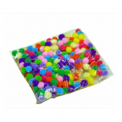 FJTANG 10 Mm Pom-Poms DIY accessories 10 Colour Package of 500 * 2