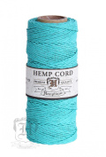 TEAL 1mm Polished Hemp Twine Hemptique Cord Macrame Bracelet Thread Artisan String 9.1kg