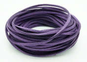 DARK PURPLE 3mm x 1.5mm Faux Suede Cord Leather Lace Bracelet Necklace Making