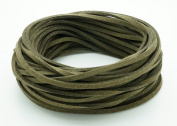 DARK OLIVE GREEN 3mm x 1.5mm Faux Suede Cord Leather Lace Bracelet Necklace Making