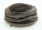 SMOKY GREY 3mm x 1.5mm Faux Suede Cord Leather Lace Bracelet Necklace Making