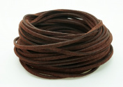 DARK WARM BROWN 3mm x 1.5mm Faux Suede Cord Leather Lace Bracelet Necklace Making