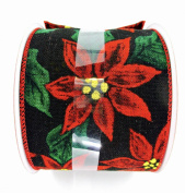 Jo-ann's Holiday Poinsettia Ribbon,wire Edge (10cm X 12m)