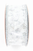 Jo-ann's Holiday Silver Polka Dot Ribbon,glitter,wire Edge
