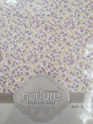 Nurture Fitted Crib Sheet, Lilac Berry