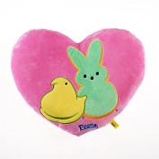 Peeps Heart Shaped Pillow - Pink