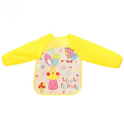 Baby bibs cute baby clothes children eat long-sleeved clothing waterproof gowns, all season