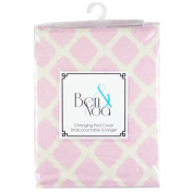 Ben & Noa Fitted Changing Pad Sheet Flannel, Pink Lattice