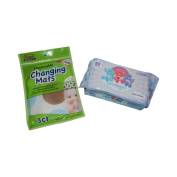 Care Bear Baby Wipes and Disposable Changing Mat Bundle Pack