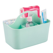 mDesign Baby and Toddler Closet or Nursery Organiser Caddy - Mint