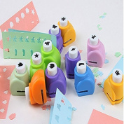 Krismile® Mini DIY Craft Punch for Scrapbooking Punch Handmade Cut Card Hole Puncher For DIY Gift Card Paper Punch- Set of 10