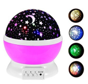 Night Lighting Lamp , TFSeven Romantic Rotating Cosmos Star Sky Moon Projector , Night Lamp Kids Bedroom Lamp for Christmas Children Birthday Party Thanksgiving Valentine Easter Halloween