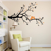 Malloom Lovebirds Branch Removable Mural Wall Stickers Wall Decal Room Home Decor