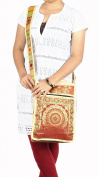 Mandala Silk Designer Women's Cross Body Bag 25cm X 38cm
