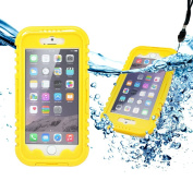 iPhone 6 case, GEARONIC TM Waterproof Hybrid Rugged PC Heavy Duty Shockproof Dirt Dust Snow Proof Durable Hard Back Full Cover Case For Apple iPhone 6 - Yellow