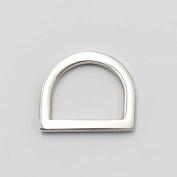 "20 Pcs Alloy 3/4"" 19mm Flat D Dee Ring for Ribbon Nylon Belt Webbing Buckles Nickle"