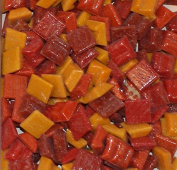 Hakatai Glass Mosaic Tile 1cm - ½ Pound Red-Orange-Yellow Assortment