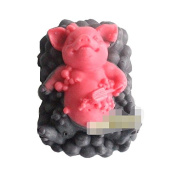 Longzang Bathing Pig Cake Mould S405 Craft Art Silicone Soap Mould Craft Moulds DIY Handmade Candle Moulds
