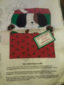 The Christmas Puppy Do Not Open Until christmas Fabric Panel