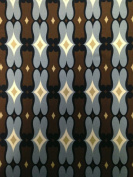 Brown & Grey Geometric Pattern on Stretch ITY Knit Jersey Polyester Spandex Fabric By the Yard