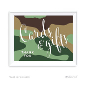 Andaz Press Woodland Camouflage Boy Baby Shower Collection, Party Sign, Cards & Gifts, 22cm x 28cm , 1-Pack