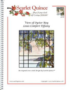 Scarlet Quince TIF001lg View of Oyster Bay by Louis Comfort Tiffany Counted Cross Stitch Chart, Large Size Symbols