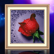 Modern Style 5d Cross Stitch Needlework DIY Painting Floral Rose Permanent Embroidery Home Decoration