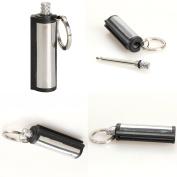 ADB Inc 2pc Emergency Fire Starter Flint Match Lighter Cylinder Outdoor Survival Tool