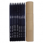 9-piece Student Artist Sketch Drawing Non-wood Black Charcoal Pencils Set