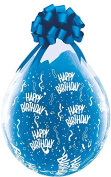 PIONEER BALLOON COMPANY 37548 Birthday-A-Round Latex Balloon, 46cm , Clear