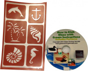 Armour Products Etch Over N Over Stencil, Seashore + Glass Etching How to CD