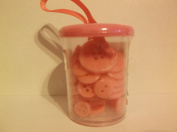 Various Sizes *Pink* Button Bucket