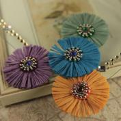 Prima Marketing 655350546519 Raffia Colonel Scrapbooking Embellishments, Blue Dawn