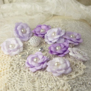 Prima Marketing 655350546694 Audrey Rose Colonel Scrapbooking Embellishments, Iced Violet