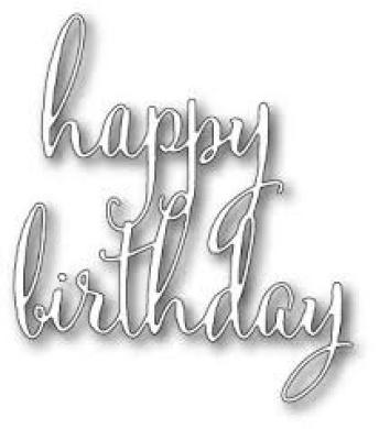 Poppy Die ~ Fancy Happy Birthday