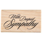 With Deepest Sympathy Rubber StampNew by